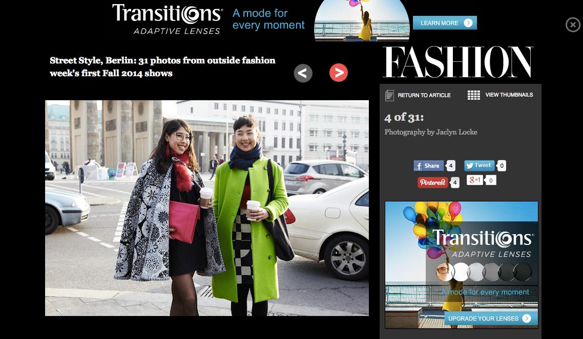 Fashionmagazine.com gallery redesign